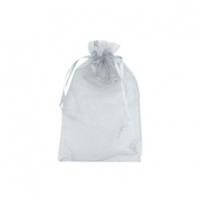 Jewellery organza bags 9x12cm Light grey