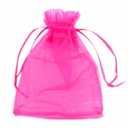 Jewellery organza bags 13x18cm Hot pink