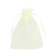 Jewellery organza bags 10x13cm Light yellow