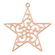 Bohemian charms star with ring Rose gold