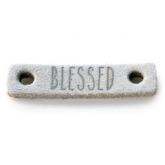 Leather DQ connector BLESSED Light grey