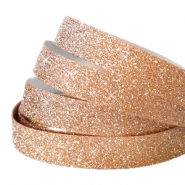 Tape 5 mm crystal glitter Rose gold