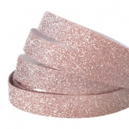 Tape 5 mm crystal glitter Vintage rose