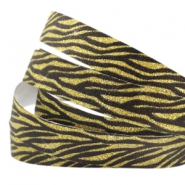 Animal print 10 mm crystal glitter tape Black-gold