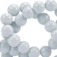 Opaque glass beads 8 mm Grey
