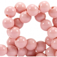 Opaque glass beads 8 mm Pale blush pink