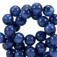 Pearl shine round 8 mm polaris beads Radiant blue