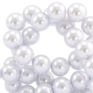 Waxed 10 mm glass pearls Lavender ice