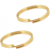 DQ metal findings splitring 12mm Gold (nickel free)