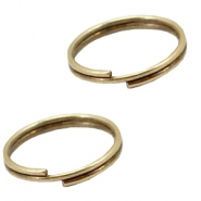 DQ metal findings split ring 12mm Antique bronze (nickel free)