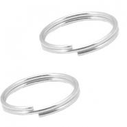 DQ metal findings splitring 12mm Antique silver (nickel free)