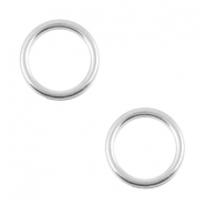 DQ metal charms circle 12mm Antique silver (nickel free)