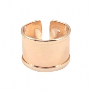DQ metal findings basic ring (for 10mm cord / leather) Rosegold