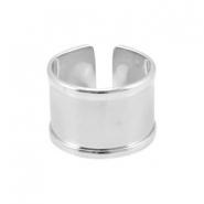 DQ metal findings basic ring (for 10mm cord / leather) Antique silver (nickel free)
