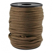 Round trendy 4 mm paracord Dark brown