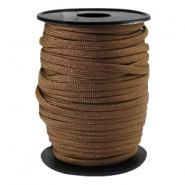 Round trendy 4 mm paracord Dark bronze brown