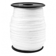 Round trendy 4 mm paracord white