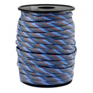 Round trendy 4 mm paracord grey-blue brown