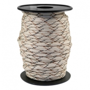 Round trendy 4 mm paracord Beige-brown
