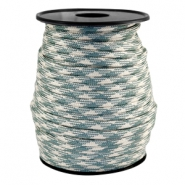 Round trendy 4 mm paracord Beige-turmaline green