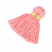 Maxi tassels 3.5 cm Gold-rose peach
