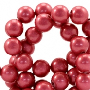 8mm glass beads with pearl coating Sunny pink