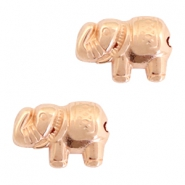 DQ metal beads elephant 13x9mm Rose gold (nickel free)