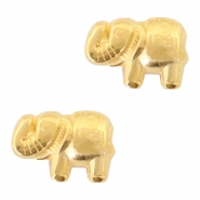 DQ metal beads elephant 13x9mm Gold (nickel free)