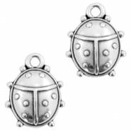 DQ metal charms ladybug Antique silver (nickel free)