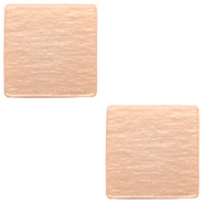 20mm flat square Polaris Elements cabochon Light blush pink