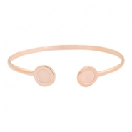 DQ metal findings bracelet with settings SS34 Rose Gold (nickel free)