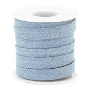Trendy flat denim cord 10m Light blue