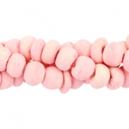Coconut beads disc 4mm Light rouge pink