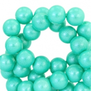 8mm pearl glitter glass beads Fresh turquoise
