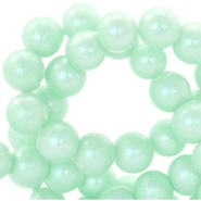 8mm pearl glitter glass beads Pastel turquoise green