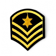 Army stars patches Black-gold