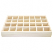 Wooden jewellery display 28 compartments Natural (natural wood colour)