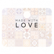 "Jewellery cards ""made with love"" Multicolour rose peach"