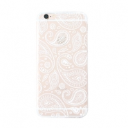 Trendy phone cases for Iphone 7 Plus paisley print Transparent-white