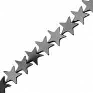 Hematite beads star 4mm Anthracite grey