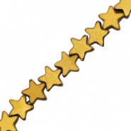 Hematite beads star 4mm Gold