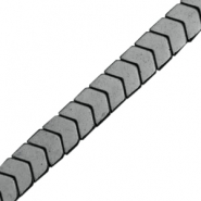 Hematite beads arrow Anthracite grey