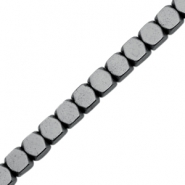 Hematite beads cube 4mm Anthracite grey