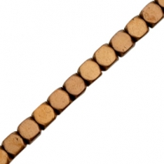 Hematite beads cube 3mm Rose gold