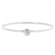 Stainless steel bracelets with setting for Swarovski SS29 Silver