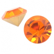 Swarovski Elements different shapes SS45 chaton (10.3mm) gold foiled Sun orange