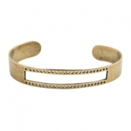 DQ metal findings basic bracelet (for macrame string) Antique bronze (nickel free)