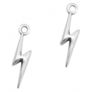 DQ metal charms 19x5mm lightning Antique silver (nickel free)