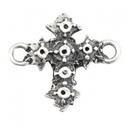 TQ metal charms connector/setting cross Antique silver