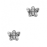 TQ metal charms butterfly Antique silver
